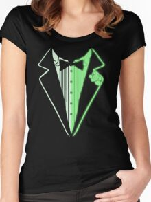 Glow In The Dark Tuxedo Women's Fitted Scoop T-Shirt