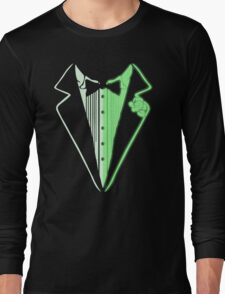 Glow In The Dark Tuxedo Long Sleeve T-Shirt
