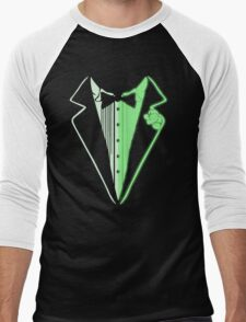 Glow In The Dark Tuxedo Men's Baseball ¾ T-Shirt