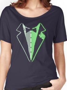 Glow In The Dark Tuxedo Women's Relaxed Fit T-Shirt