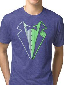 Glow In The Dark Tuxedo Tri-blend T-Shirt