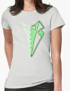 Glow In The Dark Tuxedo Womens Fitted T-Shirt