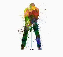 man golfer putting silhouette Unisex T-Shirt