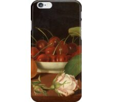 JUSTUS JUNCKER, STILL LIFE WITH FRUITS AND FLOWERS iPhone Case/Skin