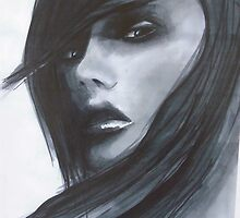 woman portrait abstract copic marker fashion background by pasteup