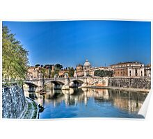 St Peter's and the Tiber Poster