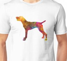 German Shorthaired Pointer in watercolor Unisex T-Shirt