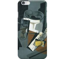 Juan Gris, STILL LIFE WITH NEWSPAPER iPhone Case/Skin