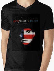Garth Brooks The Hits by rafi Mens V-Neck T-Shirt