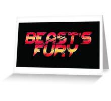 Beasts Fury Greeting Card