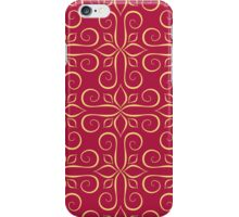 Luxury Golden Seamless Pattern on Red iPhone Case/Skin