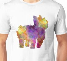 Yorkshire Terrier in watercolor Unisex T-Shirt