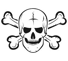Jolly Roger, a skull and crossbones. by pashigorov