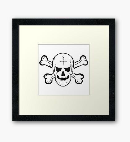 Jolly Roger, a skull and crossbones. Framed Print