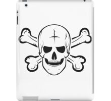 Jolly Roger, a skull and crossbones. iPad Case/Skin