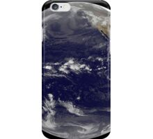 Satellite view of Earth centered over the Pacific Ocean.  iPhone Case/Skin