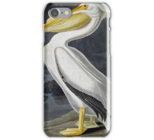 John James Audubon (Jean-Jacques Audubon)), AMERICAN WHITE PELICAN iPhone Case/Skin