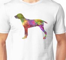 Wirehaired Slovakian Pointer in watercolor Unisex T-Shirt