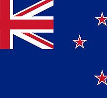 New Zealand Flag - NZ All Black T-Shirt World Cup Sticker by deanworld