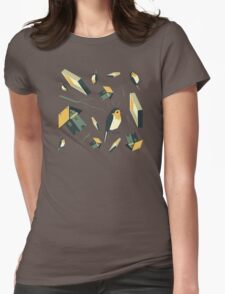 Flying Birdhouse (Pattern) Womens Fitted T-Shirt