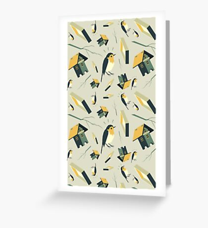 Flying Birdhouse (Pattern) Greeting Card