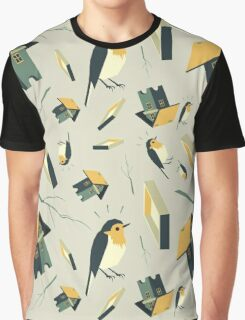 Flying Birdhouse (Pattern) Graphic T-Shirt