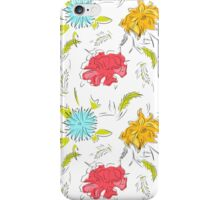 Spring flowers vector pattern iPhone Case/Skin