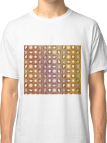 Chalk Flowers and Plants - On Golden Bronze Background Classic T-Shirt