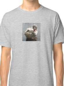 White Duck Spring Preening In Water Classic T-Shirt
