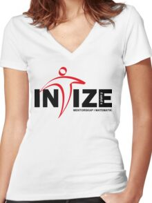 Intize logotype black text Women's Fitted V-Neck T-Shirt