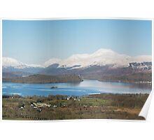 Ben Lomond above Loch Lomond in winter Poster