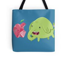 How's That Apple? - Tree Trunks Tote Bag