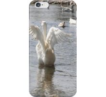 White Duck Flapping Wings on Water iPhone Case/Skin