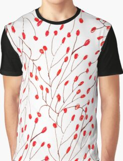 Bold red brown watercolor floral pattern Graphic T-Shirt
