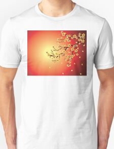 Decorative Sakura Background Unisex T-Shirt