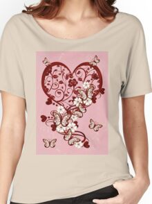 Hearts and Butterflies Women's Relaxed Fit T-Shirt