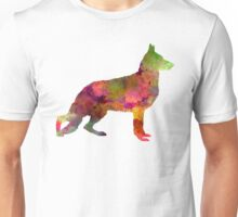 German Sherpherd dog 01 watercolor Unisex T-Shirt