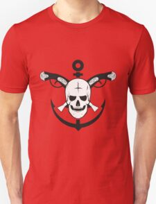The skull of the sailor. with muskets behind T-Shirt
