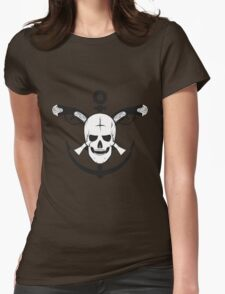 The skull of the sailor. with muskets behind Womens Fitted T-Shirt
