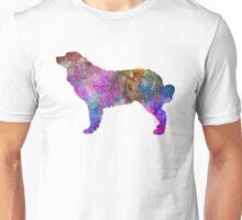 Bernese mountain dog in watercolor Unisex T-Shirt