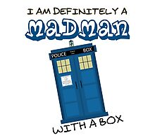 Madman with with box Photographic Print
