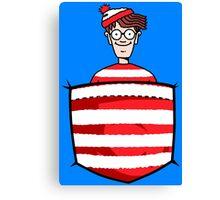 Wally / Waldo is in my pocket Canvas Print