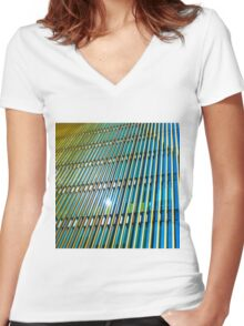 Modern Architecture in colour Women's Fitted V-Neck T-Shirt