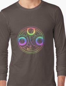 Rainbow Gallifreyan Doctor Who Long Sleeve T-Shirt