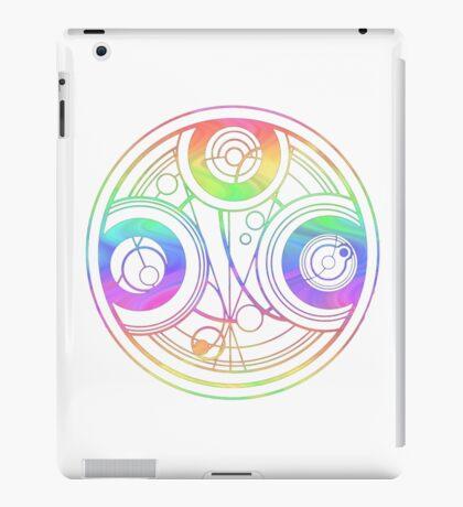 Rainbow Gallifreyan Doctor Who iPad Case/Skin