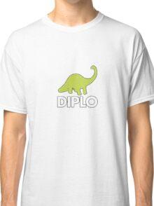 Dinosaur Diplo Green and White Classic T-Shirt