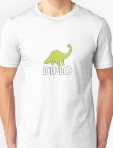 Dinosaur Diplo Green and White T-Shirt