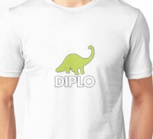 Dinosaur Diplo Green and White Unisex T-Shirt