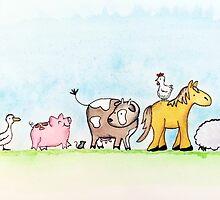 Farmyard friends. by Septembergurl