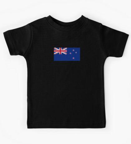 New Zealand Flag - NZ All Black T-Shirt World Cup Sticker Kids Tee